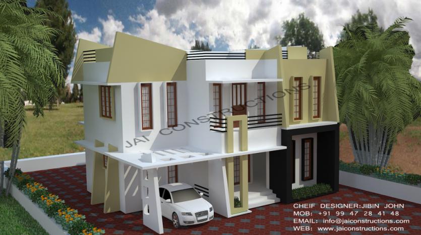 Contemporary-model-house-plans