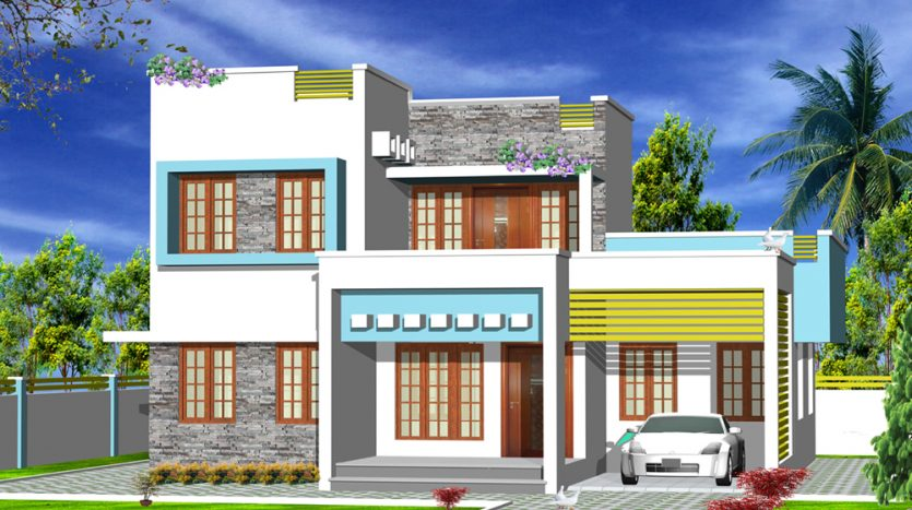 Contemporary house plans in Kerala