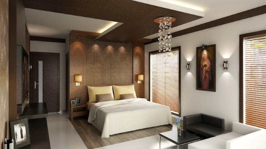 Modern Bedroom 3d Model Kerala Model Home Plans