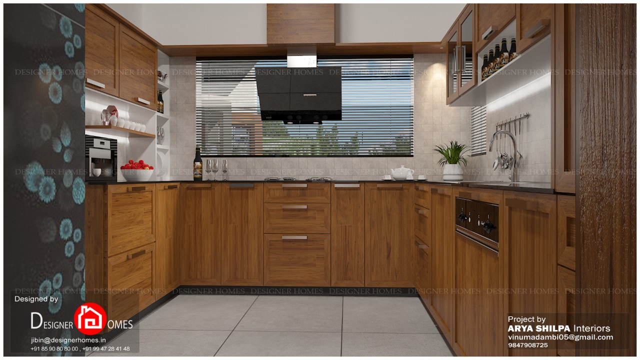 Modular kitchen designs Kerala - Kerala Model Home Plans