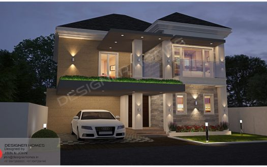 European style house plans Kerala