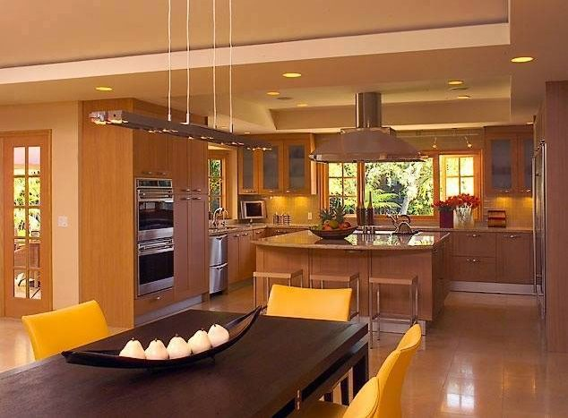 Traditional type open kitchen Designs