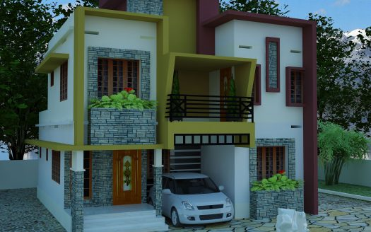 Contemporary model house plans jai constructions